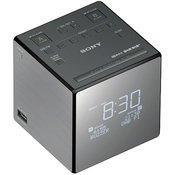 Sony DAB+ radijska budilka Sony XDR-C1DBP DAB+, UKW akumulatorsko polnjenje, srebrne barve, črne barve