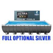 Vanjski bazen Intex Ultra Metal 732 x 366 x 132 cm, piješceni filtar, New Technology XTR 2019 + FULL OPTIONAL SILVER