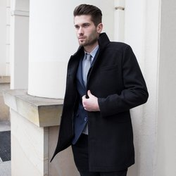 OMBRE CLOTHING zimski kaput Victor, crni, XXL