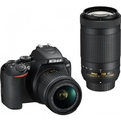 NIKON D-SLR fotoaparat D-3500 kit + objektiv AF-P 18-55VR + AF-P 70-300VR