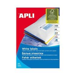 Apli naljepnice bijele 100 listova AP001278  105 x 57 mm, 10/stranica