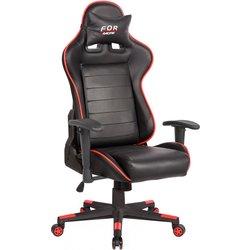 Gaming stol Bremen, črn-rdeč