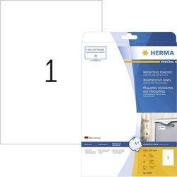 Herma Naljepnice za inkjet printer Herma 4866, A4, bijele, 210 x 297 mm, folija, mat, 10 komada