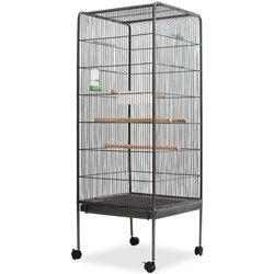 VIDAXL čelični kavez za ptice 54x54x146 cm