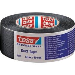 TESA Močen lepilni trak TESA Tesa® Duct Tape črne barve (D x Š) 50 m x 50 mm iz kavčuka, vsebina: 1 rola