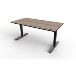 YAASA električno nastavljiva pisalna miza Desk Pro tartufno rjav hrast, 160x80 cm