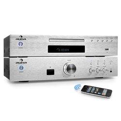 "AUNA ""ELEGANCE TOWER BLUETOOTH"", SREBRNA, 2.0 HIFI SET, MP3-CD player + POJAČALO 600 W"