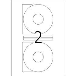 Etikete za CD 116 A4/2 1/100 bela