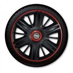 J-TEC okrasni pokrov za platišča Maximus Black Red 15, 4 kosi
