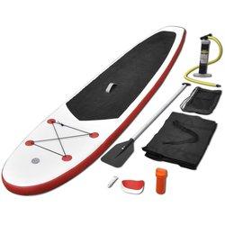 vidaXL Set daske za veslanje stojeći na napuhavanje crveno-bijeli