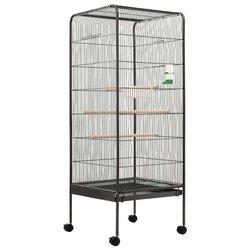 Kavez za ptice sivi 54 x 54 x 146 cm čelični