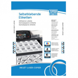OFFICE TIP TOP samolepljive etikete TTO 035016 (Bele) 35.6 x 16.9 mm, 80, 100, Bela