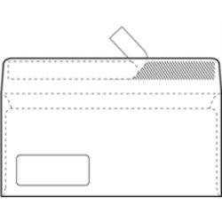 Kuverta amerikanka, 230 x 110 mm, z levim okencem, 500 kosov, 90 g