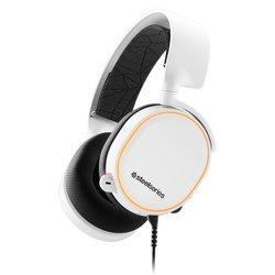 Steelseries Gaming naglavne slušalice sa mikrofonom USB, 3,5 mm priključak Stereo, Sa vrpcom Steelseries Arctis 5 RGB Preko ušiju Bijela, Cr