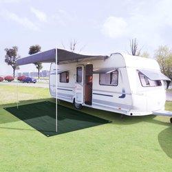 vidaXL Preproga za šotor HDPE 300x500 cm zelena