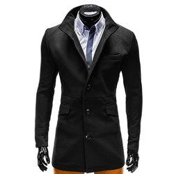 OMBRE CLOTHING moški plašč Victor, črn