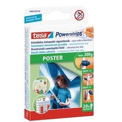TESA obojestranski lepilni lističi Powerstrips Poster