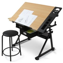 Risalna miza lesena s stolom