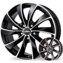 Rial platišča x112 ET43 8.0x18 RIAL LUGANO črna 57.1 ( Audi. VW. Škoda. Seat )