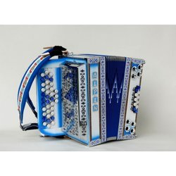 ALPEN diatonična harmonika 34-3-2 C-F-B , belo modra