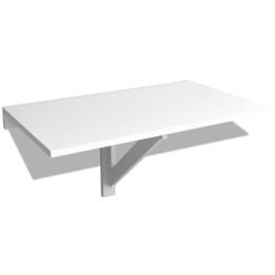 VIDAXL zložljiva stenska mizica (100x60cm), bela