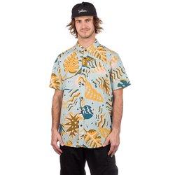 Volcom Scrap Floral Shirt sea glass Gr. XL