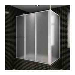 Paravan za kade L oblik s 4 sklopivog panela 70 x 120 x 140 cm