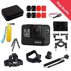 Športna kamera GoPro HERO7 Black in 20-delni paket kompatibilnih dodatkov