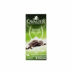 Cavalier Dark (temna 85%) stevia čokolada 85g