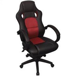 vidaXL Uredska stolica od Umjetne kože Crvena