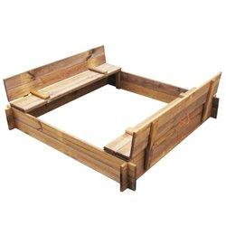 vidaXL Impregnirana kvadratna drvena kutija s pijeskom