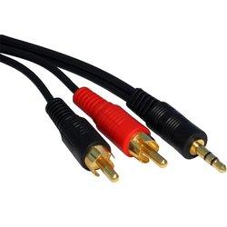 Kabl audio 3.5mm - 2xRCA 1.5m crni (CCA-458)