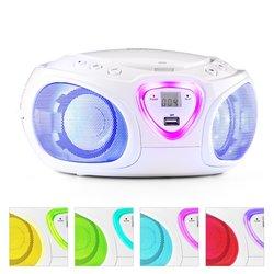 AUNA radio Road Boombox CD USB MP3 MW/UKW, bel