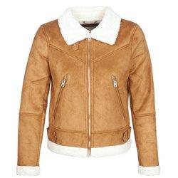 Vero Moda  Kožne i sintetičke jakne VMANAIS  Smeđa