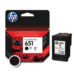 HP kartuša C2P10AE (nr.651), črna