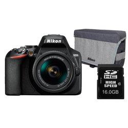 Nikon D3500 fotoaparat kit (18-55mm VR objektiv) + Nikon torba, 16GB SD kartica