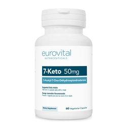 Eurovital prehransko dopolnilo 7-KETO DHEA 50mg, 60 kapsul