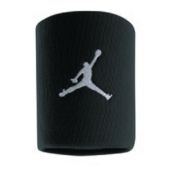 NIKE JORDAN JUMPMAN WRISTBANDS BLACK/WHITE AC4094-010