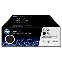 HP toner 85A, dvojno pakiranje, (CE285AD), črna