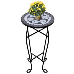 VIDAXL mizica z vzorcem mozaika črno-bela