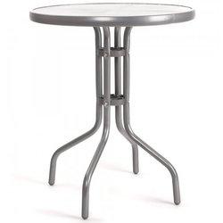 HAPPY GREEN kovinska vrtna miza, srebrna