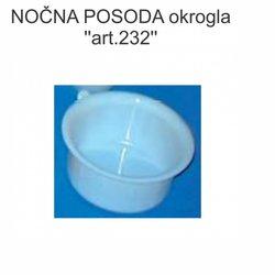 Nočna posoda, okrogla (art.232)