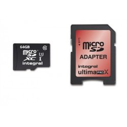 Integral memorijska kartica UltimaPro MicroSDXC 64 GB, Class 10 U3 + adapter