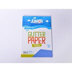 Papir glitter sa šljokicama A4 250g 1/10, PLAVI