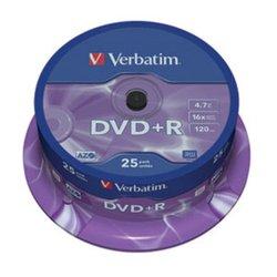 VERBATIM DVD+R MEDIJ 25PK CB (43500)