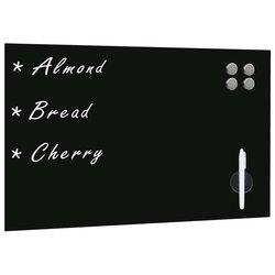 Zidna crna magnetna ploča od stakla 60 x 40 cm