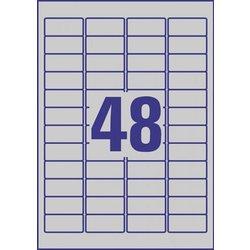 Avery Zweckform etikete Zweckform L6009 45,7 x 21,2 mm, srebrne, zavitek 20 listova