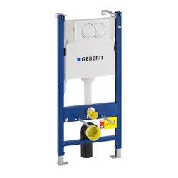 Geberit Duofix Basic suhomontažni WC element z aktivirno tipko in montažnim kotnikom 111.154.11.1