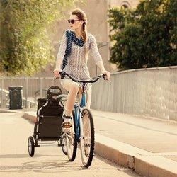 DURAMAXX Carry Red, ciklo kolica, kolica za bicikl, ručna kolica, max. nosivost 20 kg, crno-crvena