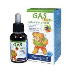 PHARMALIFE kapljice za otroke GAS BIMBI, prehransko dopolnilo, 30ml